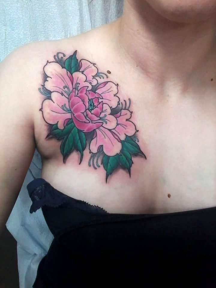Peony tattoo by jason houseman insight studios chicago