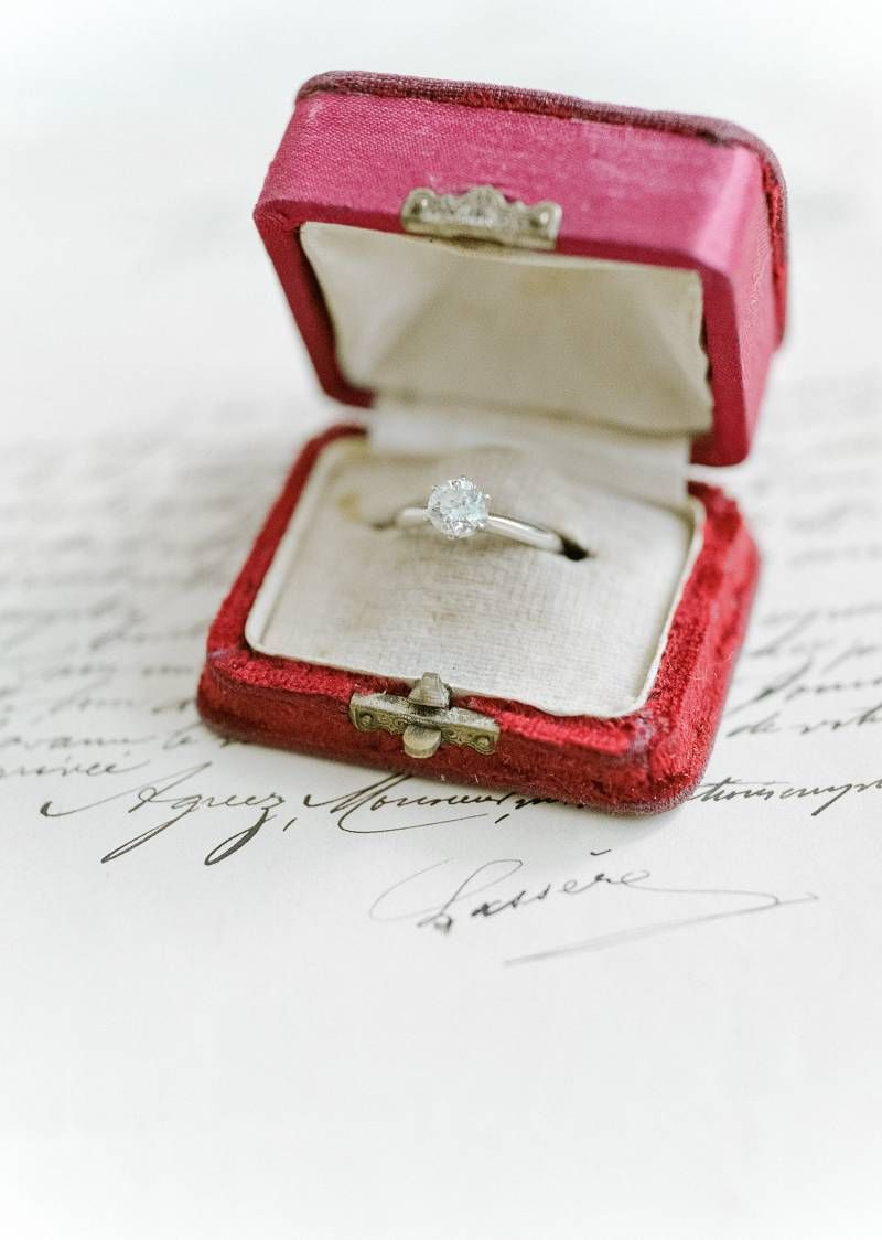 Dahlia Inspired 1920s Wedding Ideas Vintage Wedding Ring Box