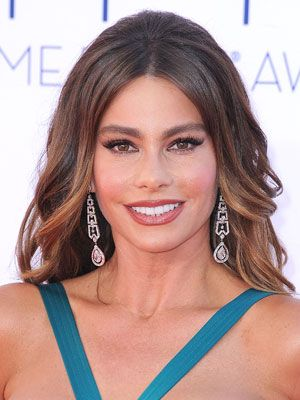 Sofia Vergara #makeup #style at the 2012 Primetime Emmy Awards