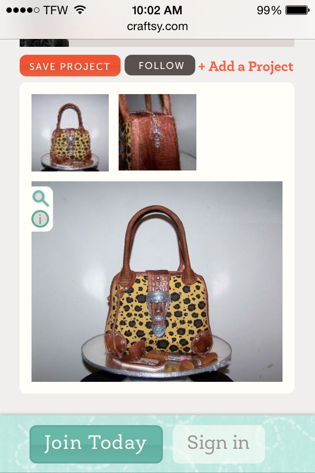 Handbag cake. Find out how at Craftsy.