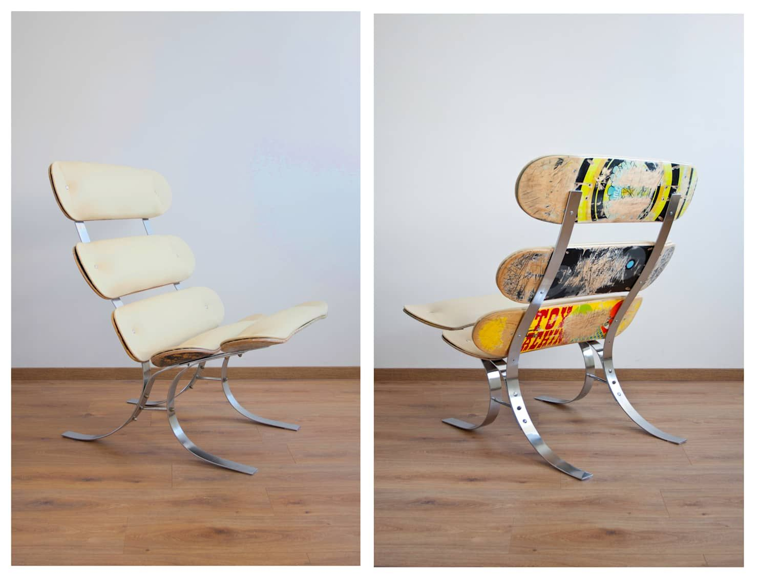 Wohnzimmer Möbel Upcycling Upcycling Skateswing – Skateboard Lounge Chair: Wohnzimmer