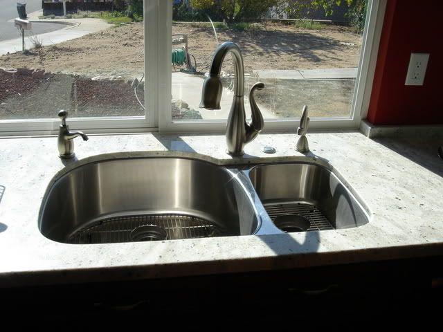 Sinks Not Centered Under A Window Kitchens Forum Gardenweb Modern Kitchen Faucet Kitchen Faucet Design Sink