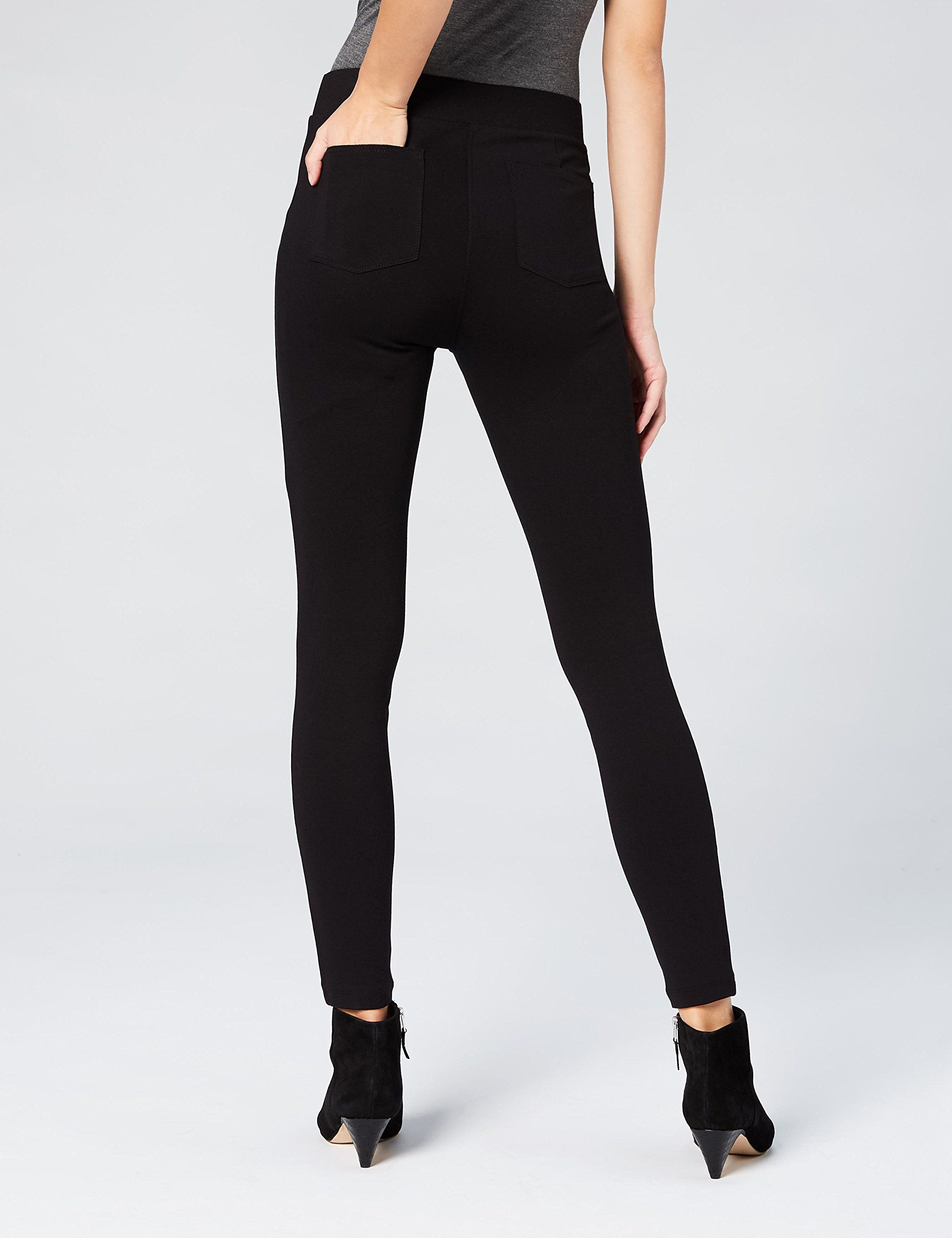 da44d34c77 Daily Ritual Women's Seamed Front 2Pocket Ponte Knit Legging Black XS  Long >>> Check this awesome product by going to the link at the image.