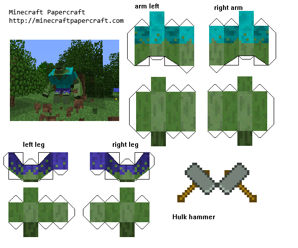 Papercraft Mutant Zombie Villager Mutant Creatures Mod Paper Crafts Minecraft Anime Minecraft Crafts