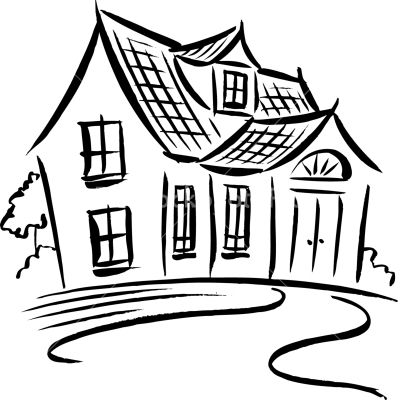 Stockphotopro Images For And A Black And White Drawing Of A House House Drawing Cottage Images Sell My House