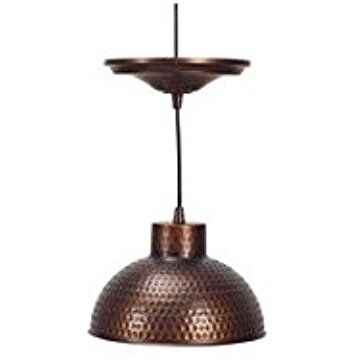 Plow Hearth Screw In Pendant Light With Adjustable Hanging Cord Textured Steel Hammered C Adjustable Pendant Light Screw In Pendant Light Copper Lighting