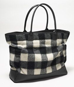 Llbean Signature Wool Buffalo Check Tote Maide In Maine
