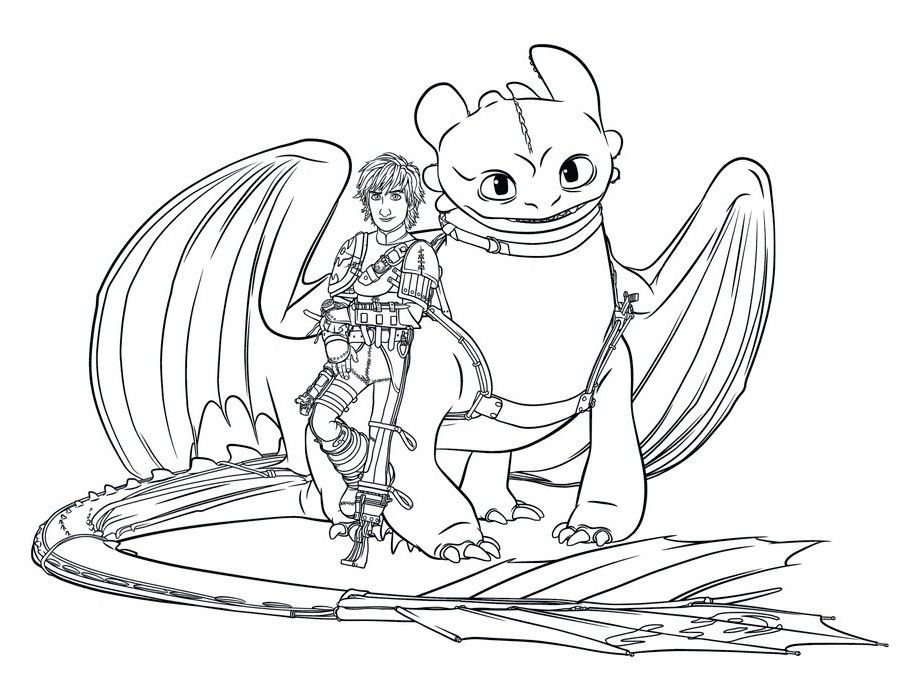How To Train Your Dragon Coloring Pages For Kids Printable ...