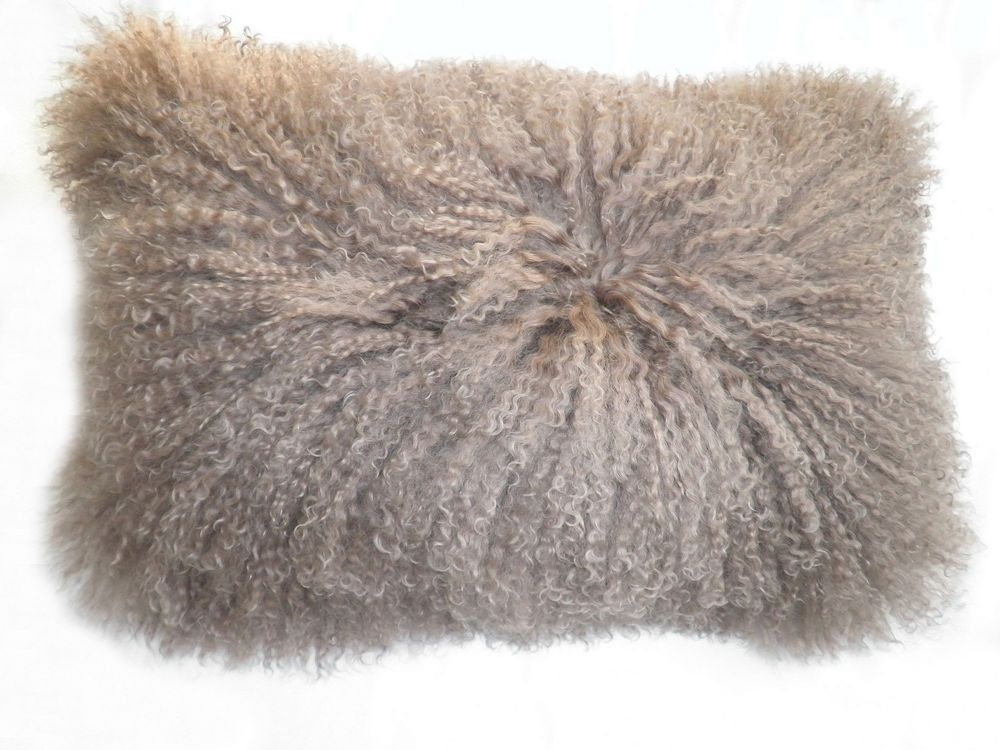 Rectangle Lamb Fur Pillow in Natural - Moe's Home Collection - $106 - domino.com