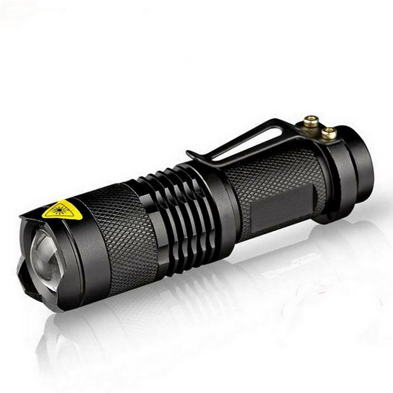 SuperBright Aluminum Telescopic zoom torch Tactical Flashlight Lamp USB charge Y