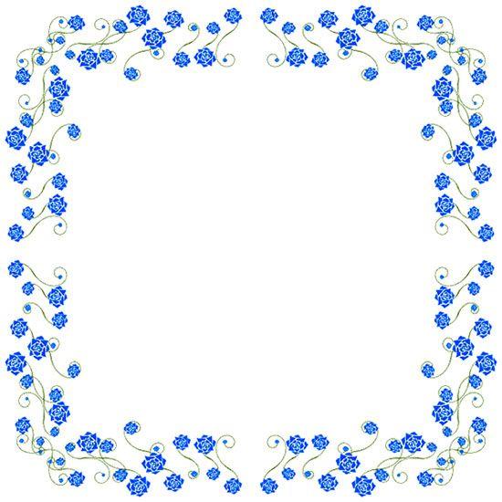 deep blue roses border | images | Pinterest | Picture ...