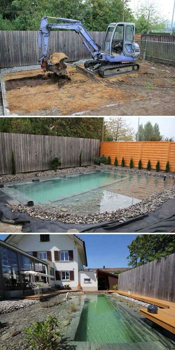 Pool Hinterhof, Schwimmbecken, Gartenhaus, Freizeit, Balkon, Landschaften,  Poolbau, Schwimmteiche, Naturschwimmbäder