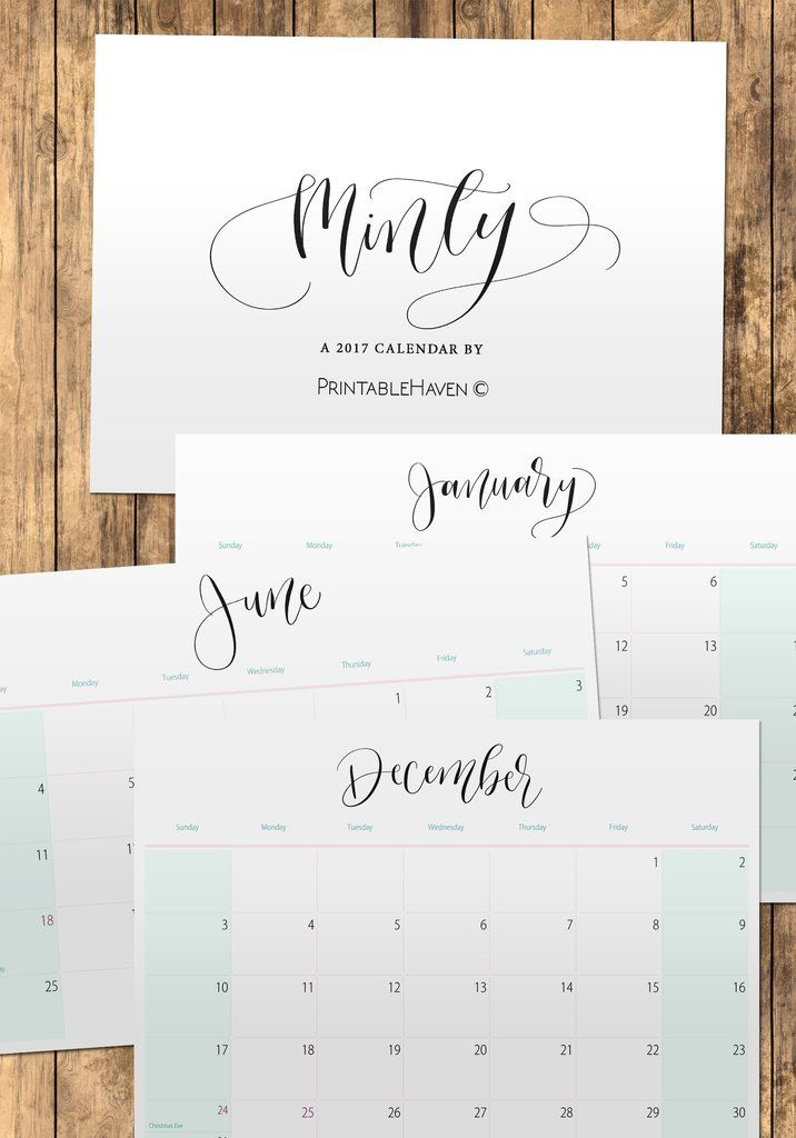 2017 Printable Wall, Desktop or Binder Calendars | Calendar ...