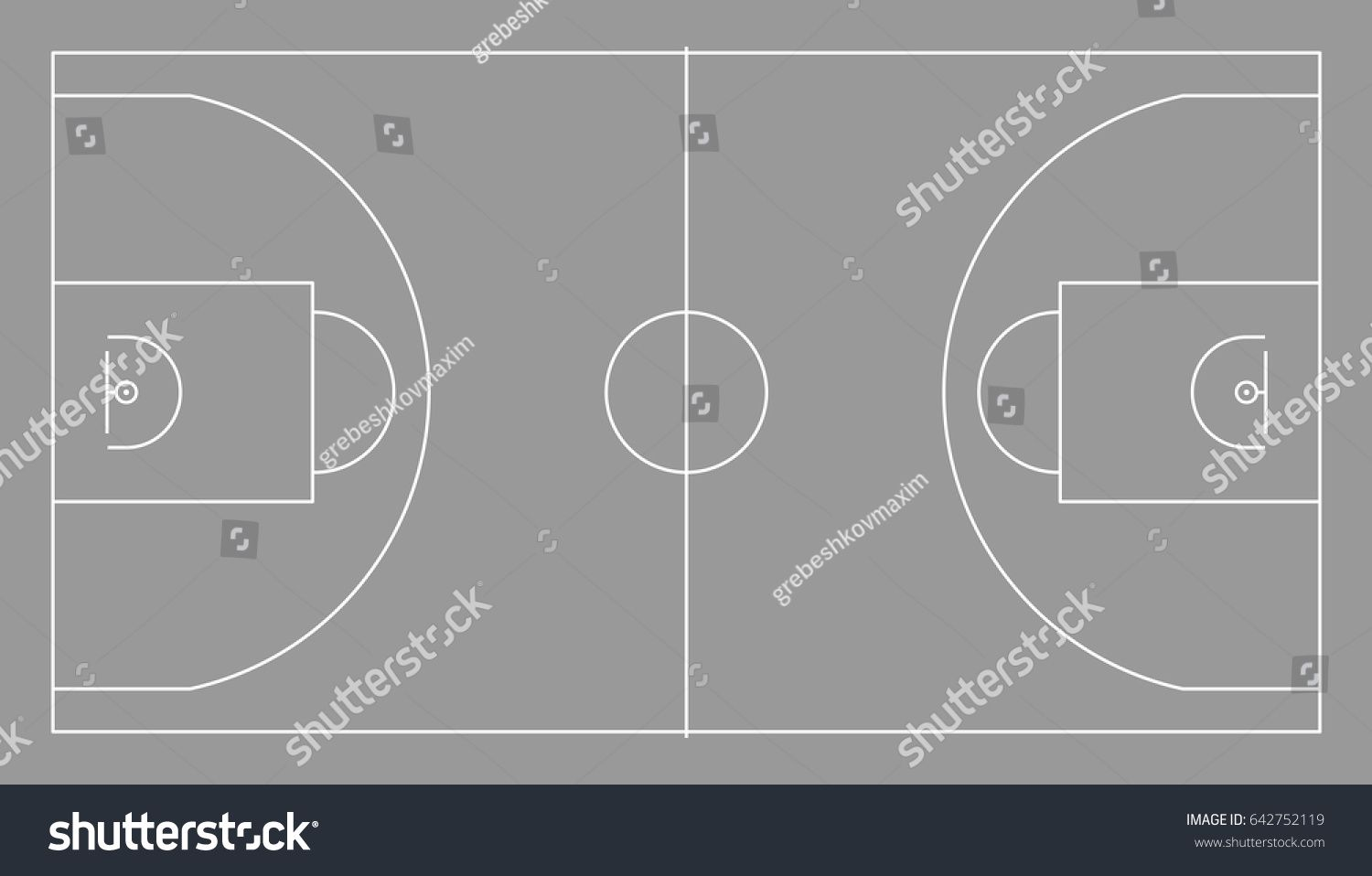 Basketball Court Vector Illustration With Lines Ad Spon Court Basketball Vector Lines Vector Illustration Vector Illustration