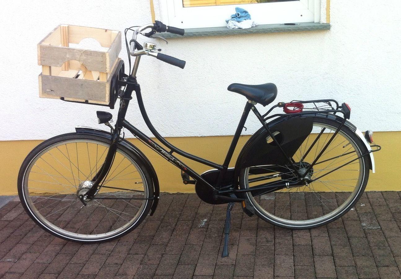 fahrradkasten holz hollandrad fahrradkiste front. Black Bedroom Furniture Sets. Home Design Ideas