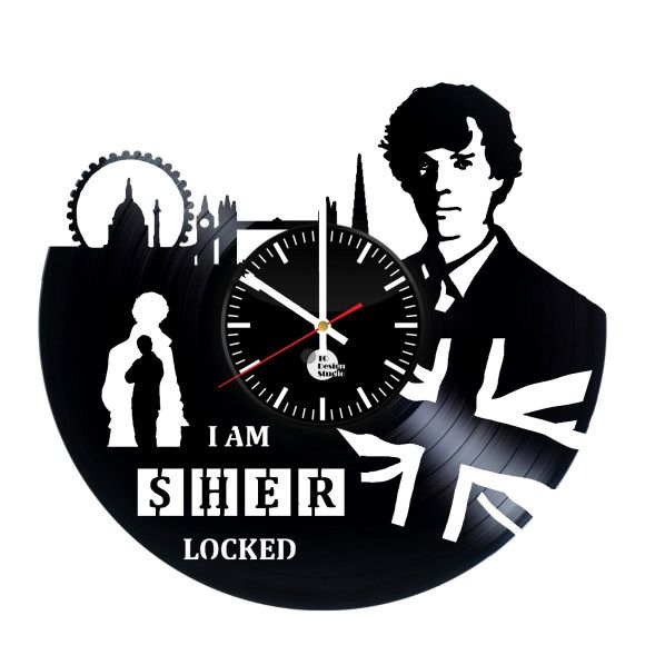 Sherlock Holmes Series Hero Handmade Vinyl Record Wall