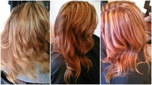 Before Previously Highlighted And Colored Hair That Faded After Added Blonde Highlights With Dark Copper And Go Blonde Highlights Long Hair Styles Hair Styles