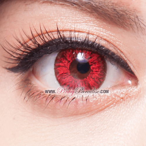 Super Bright Red Red Colored Contacts Shop Online Now Pinkyparadise Rare Eye Colors Rare Eyes Red Eyes Contacts