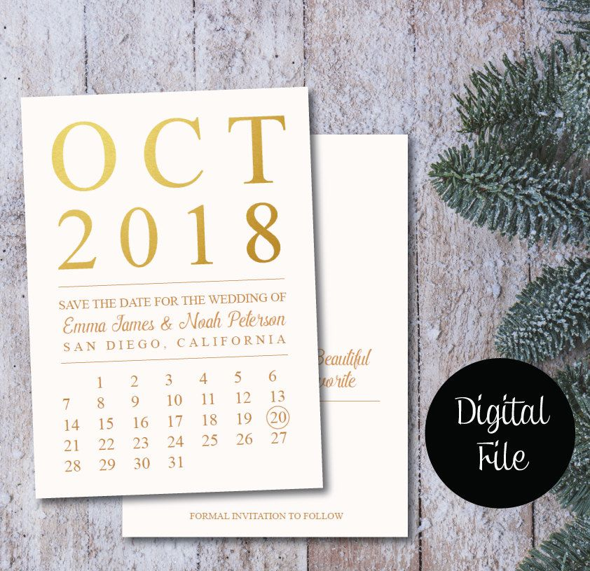 Save The Date Calendar Templatesave The Date Postcard Printable