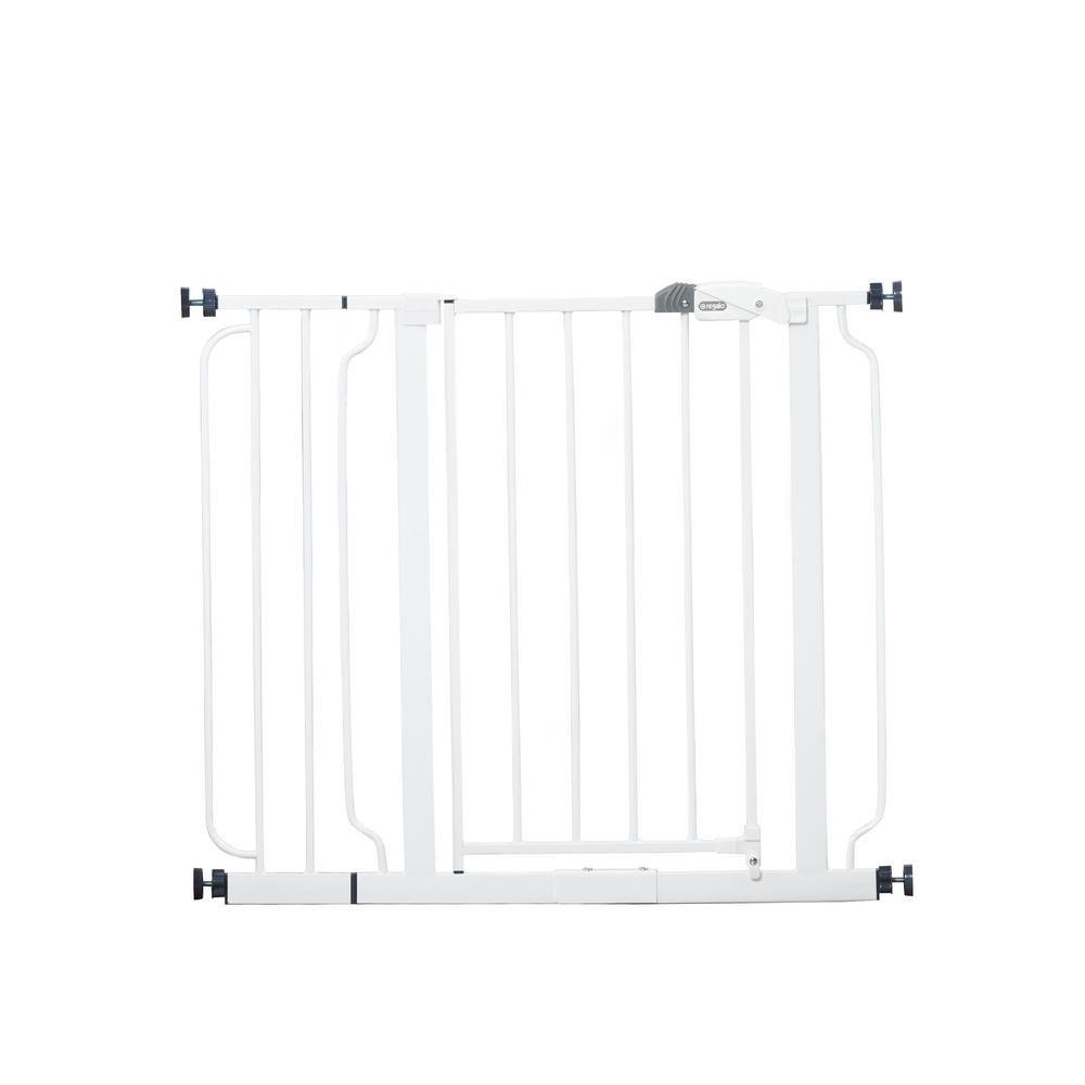 Regalo 30 Easy Step Metal Walk Through Gate Child Safety Gates Baby Gates Kids Gate
