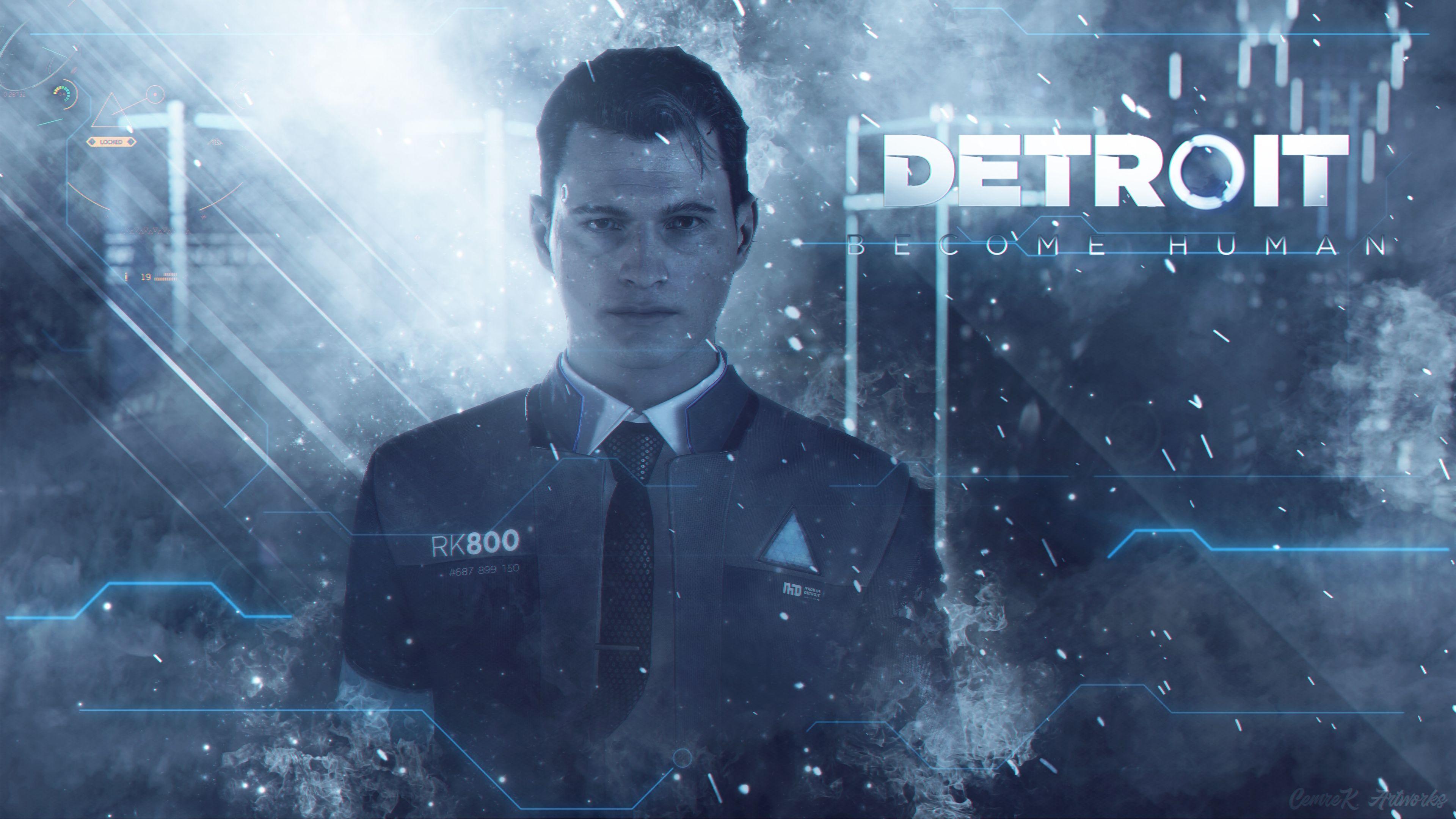 Detroit Human Connor Wallpaper by Cemreksdmr