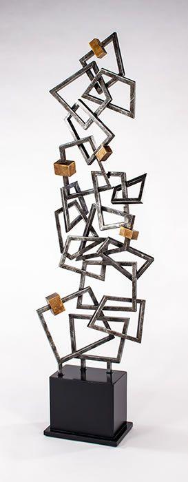 Modern Quadrilateral Floor Sculpture Sculpture Decor