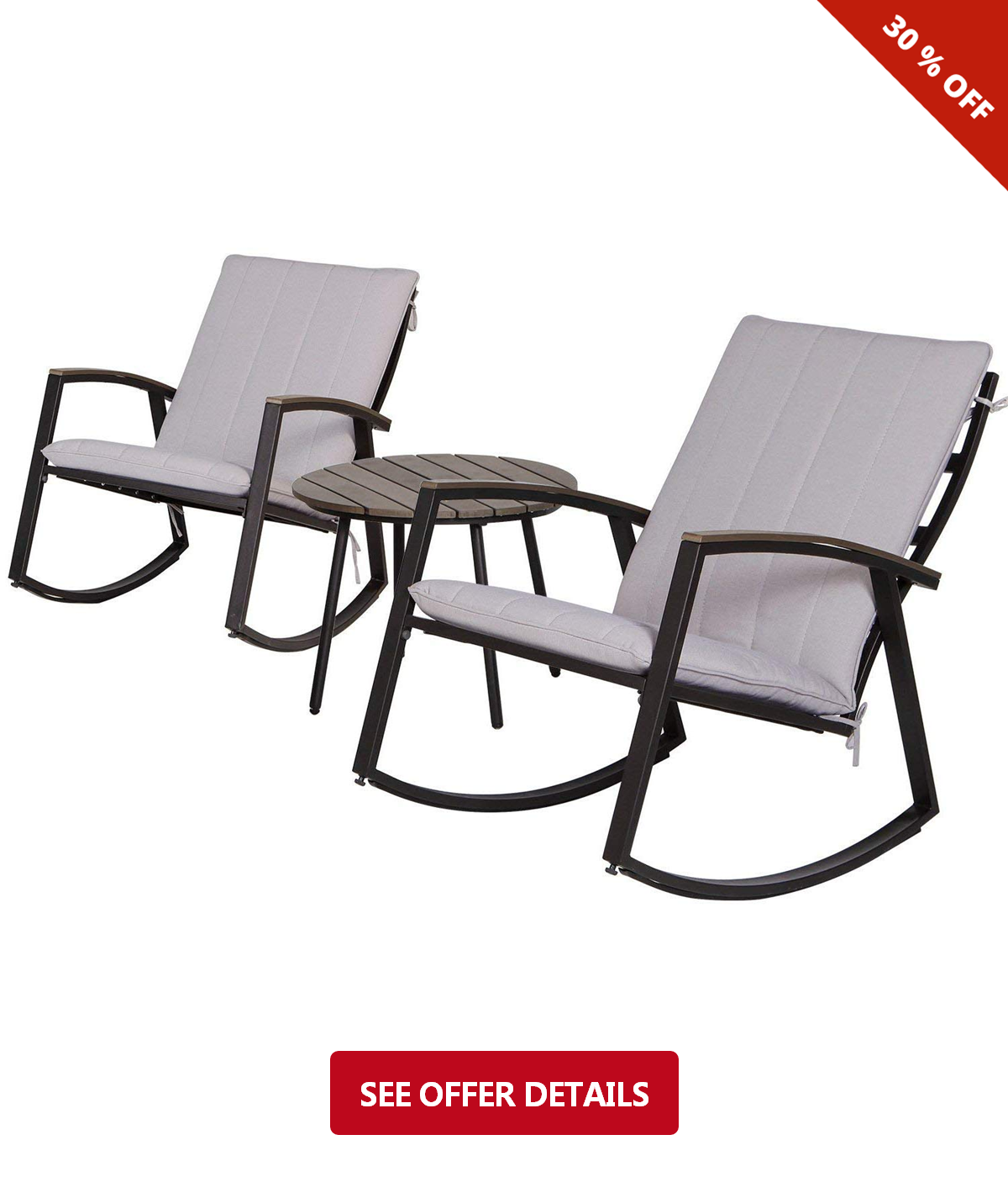 Admirable 175 Lch Outdoor 3 Piece Rocking Chair Bistro Sets Patio Ibusinesslaw Wood Chair Design Ideas Ibusinesslaworg