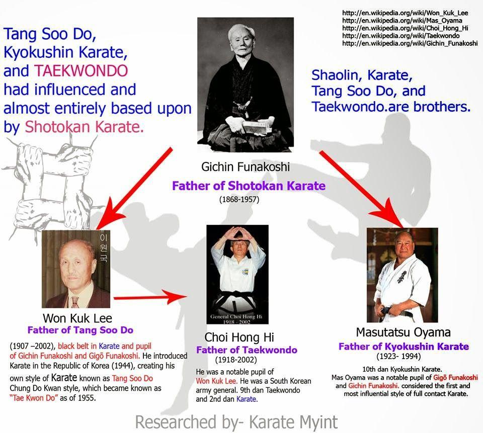 Family Tree Of Shotokan Karate Google Search Shotokan Karate Shotokan Karate