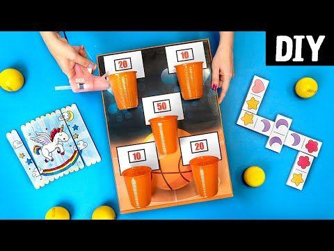 5 Jogos e Brinquedos para fazer em casa DIYs pa...