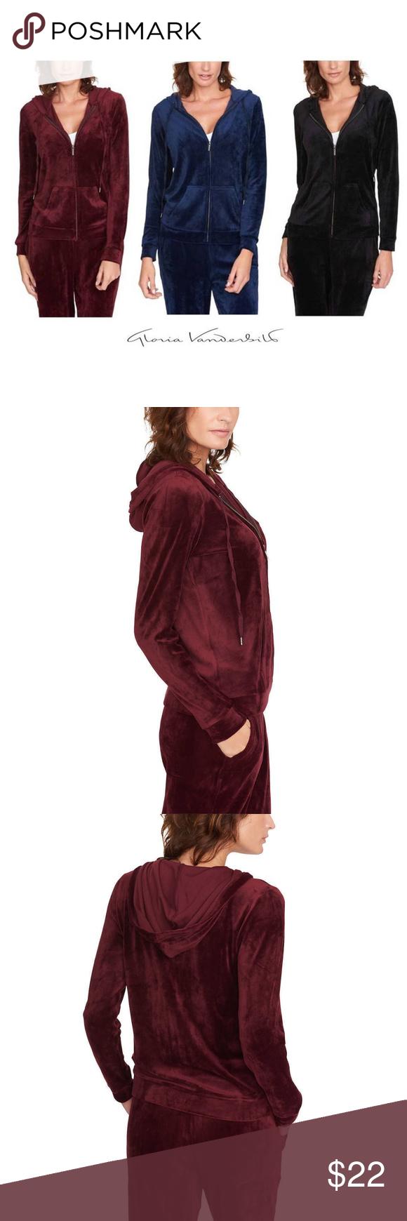 Gloria Vanderbilt Ladies Ultra Soft Velour Jacket Velour Jackets Gloria Vanderbilt Clothes Design