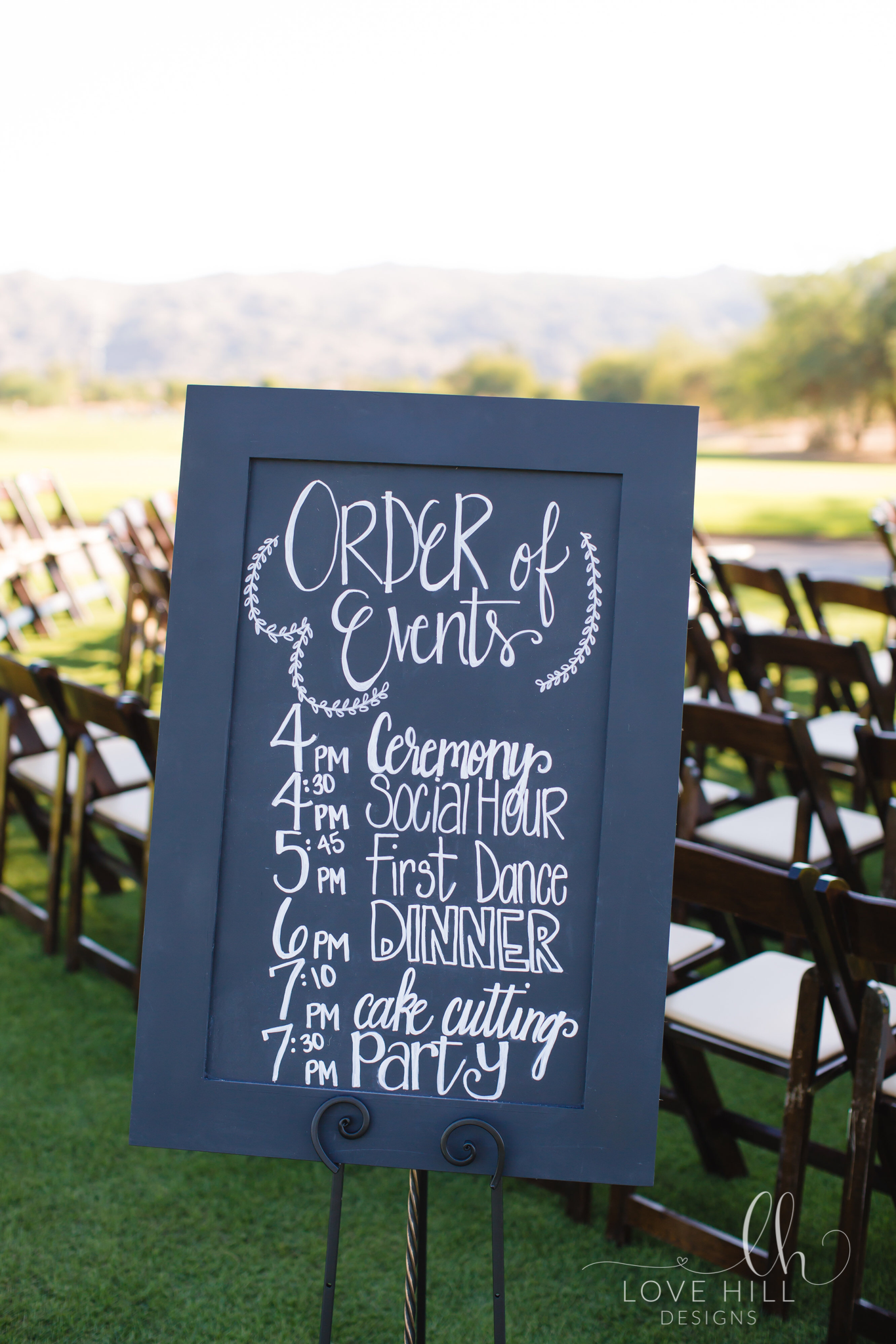 Order Of Events Chalkboard Sign For Your Wedding Lovehilldesigns Lovehilldesigns Order Of Wedding Ceremony Wedding Reception Program Wedding Order Of Events
