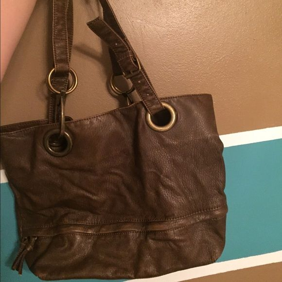 Braciano Handbag Center Zipper Compartment On Outside Bottom Only Used A Handful Of