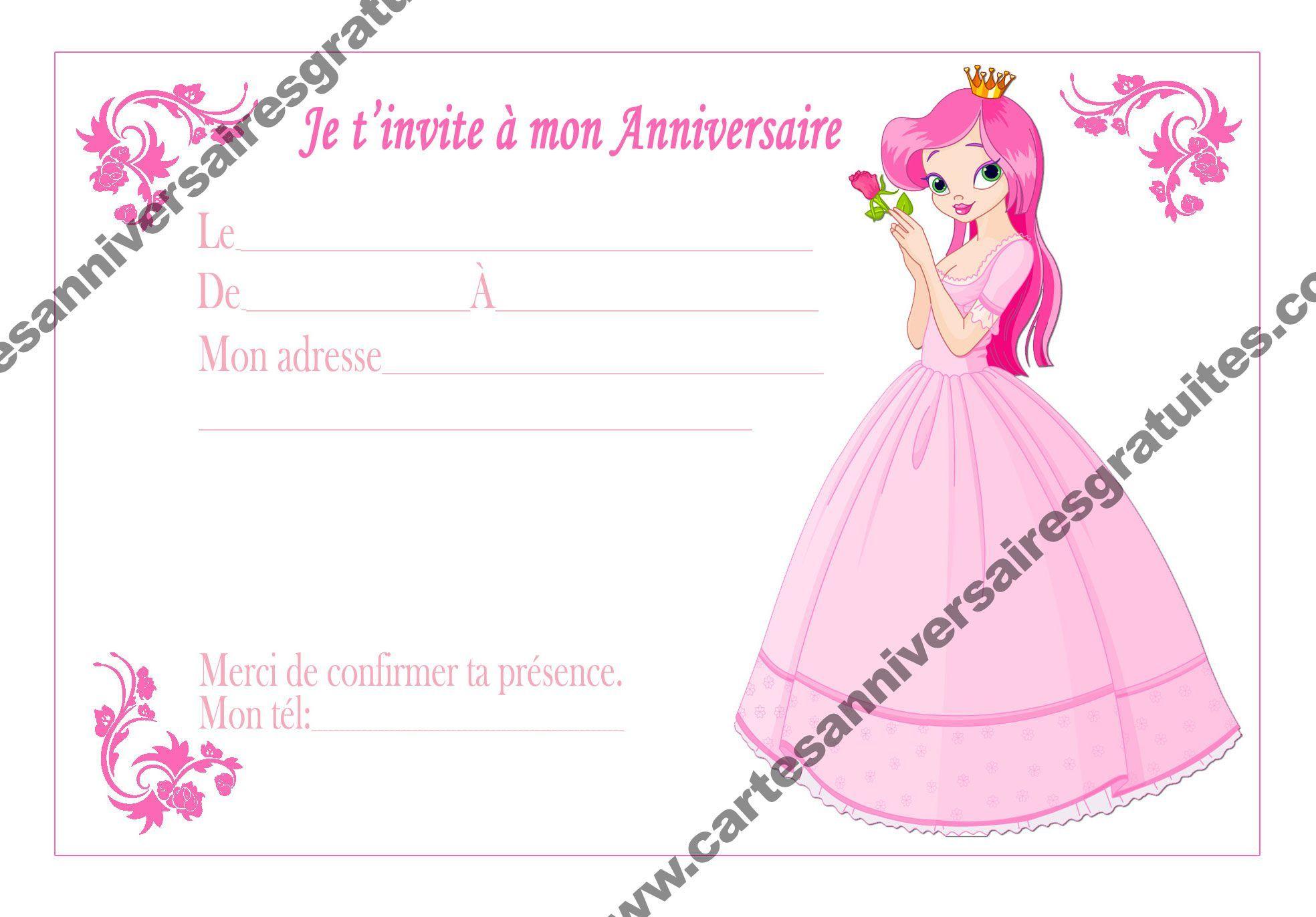Carte invitation anniversaire gratuite (Dengan gambar)