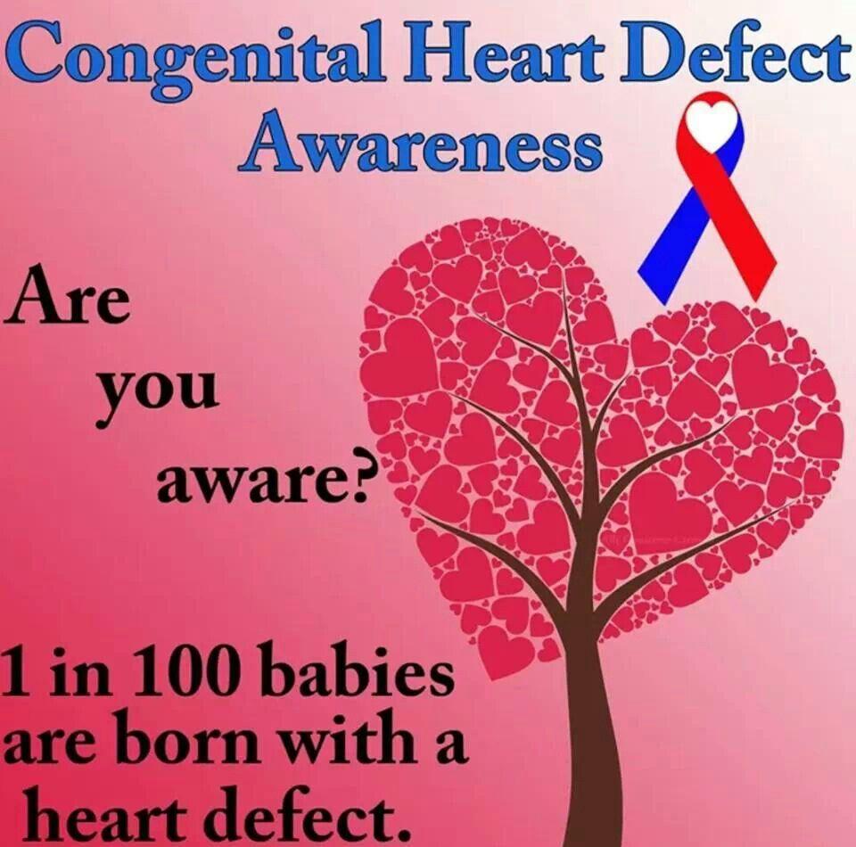 1 in 100 Congenital heart defect awareness, Chd