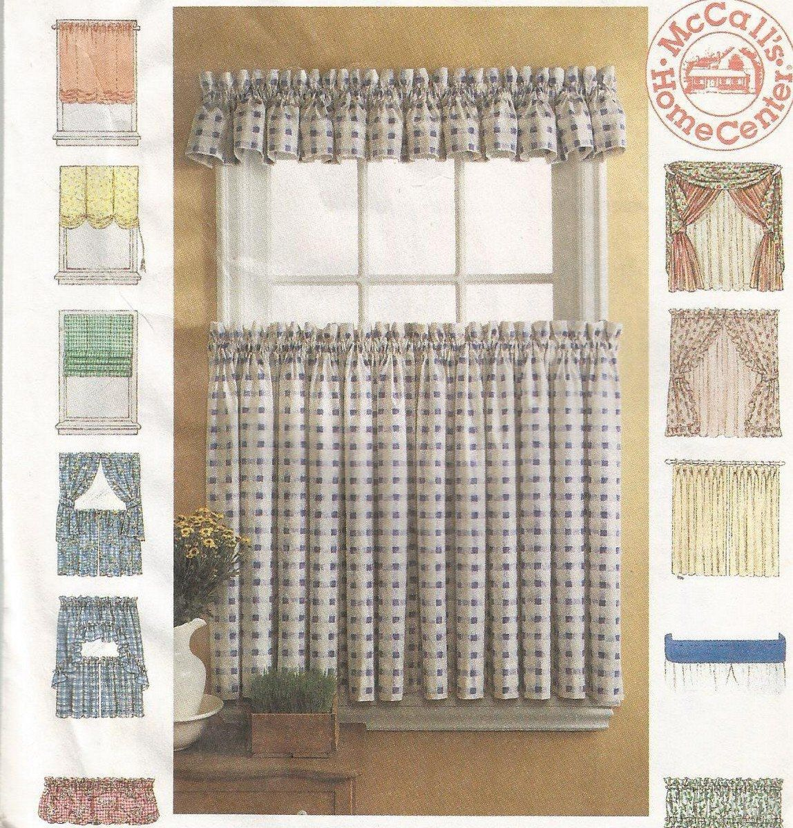 Curtain Sewing Patterns Mccalls 8492 Curtain Pattern Drapes Window Shades Crafts Seasonal Curtain Patterns Pattern Draping Mccalls Sewing Patterns