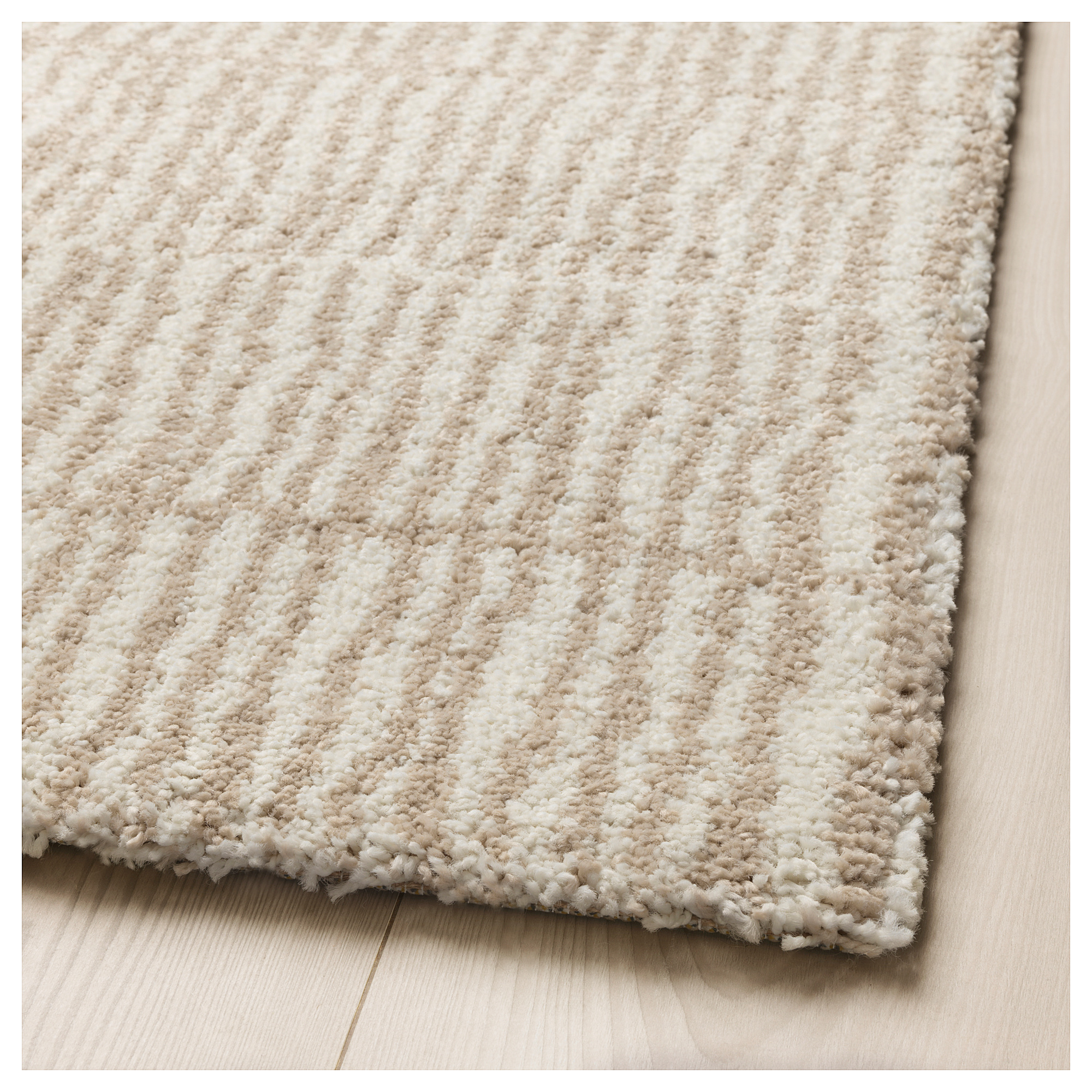 Ikea Lindelse Rug High Pile Natural Beige Sunroom In