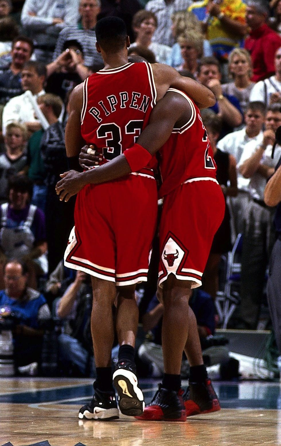 96d7ecd8740 ... Jordan Flu Game Shoes Sell For Over 100,000 Michael Jordan wearing  after jersey ...
