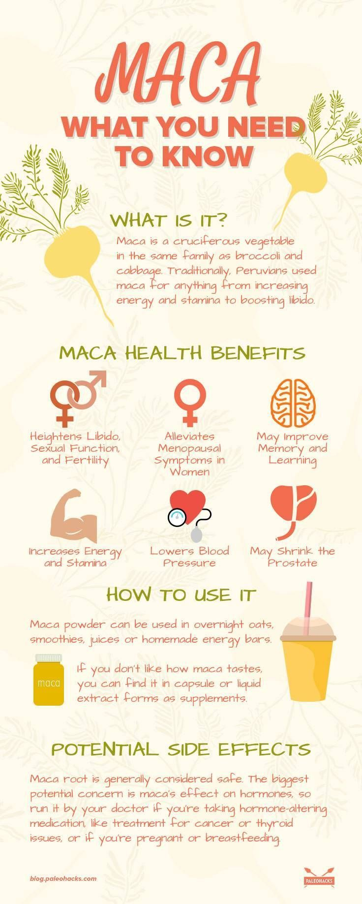 Discover the top 7 benefits of maca root, 2 maca recipes