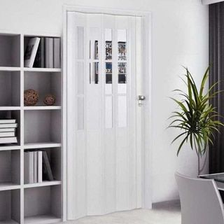 Homestyle Metro Aluminum with Turquoise Frosted Insert Folding Door ...