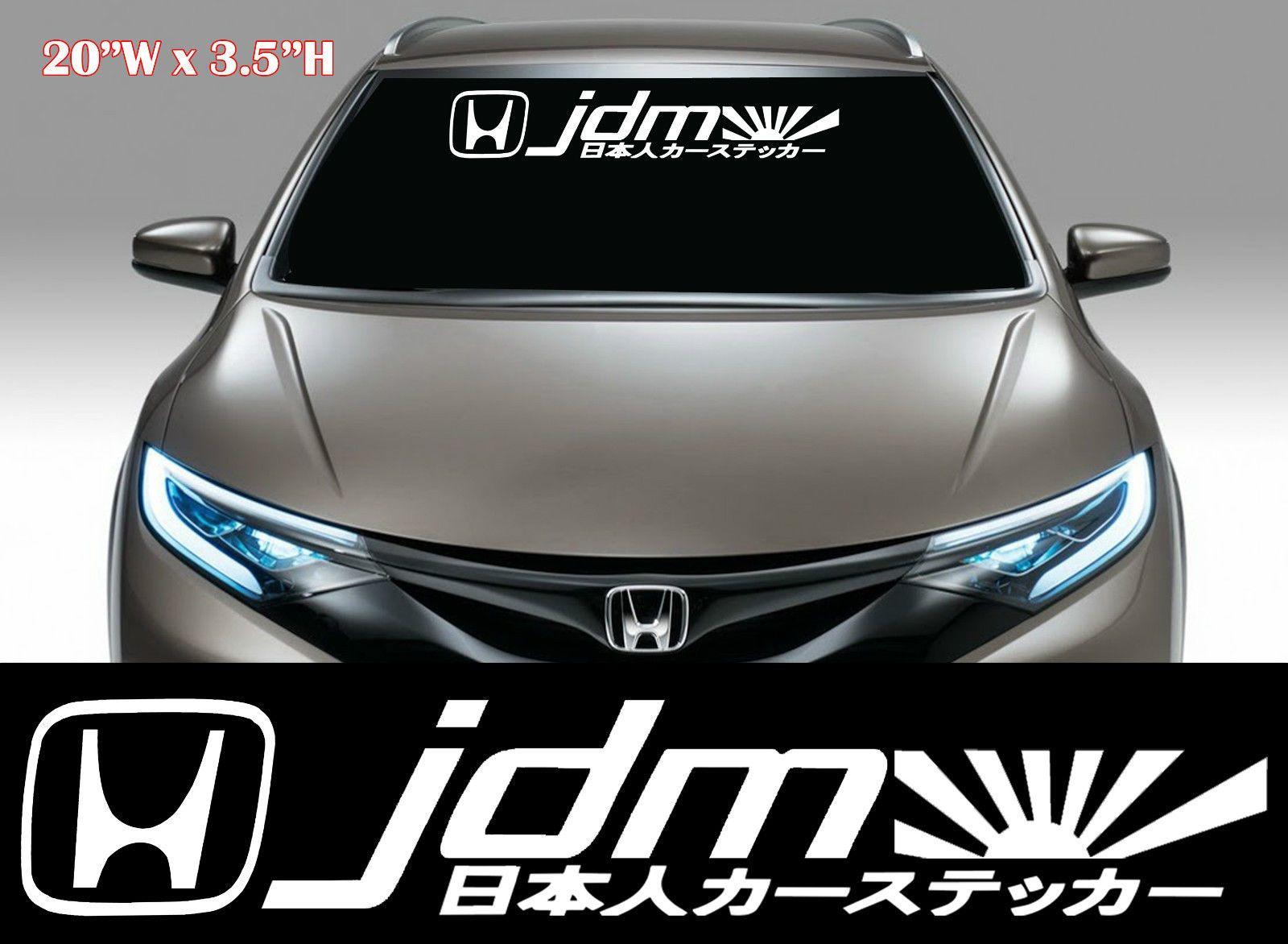 Honda fit car sticker design - 1x Jdm Kanji Racing Decal Sticker Mugen Windshield Decal Fits Honda 104 Ebay