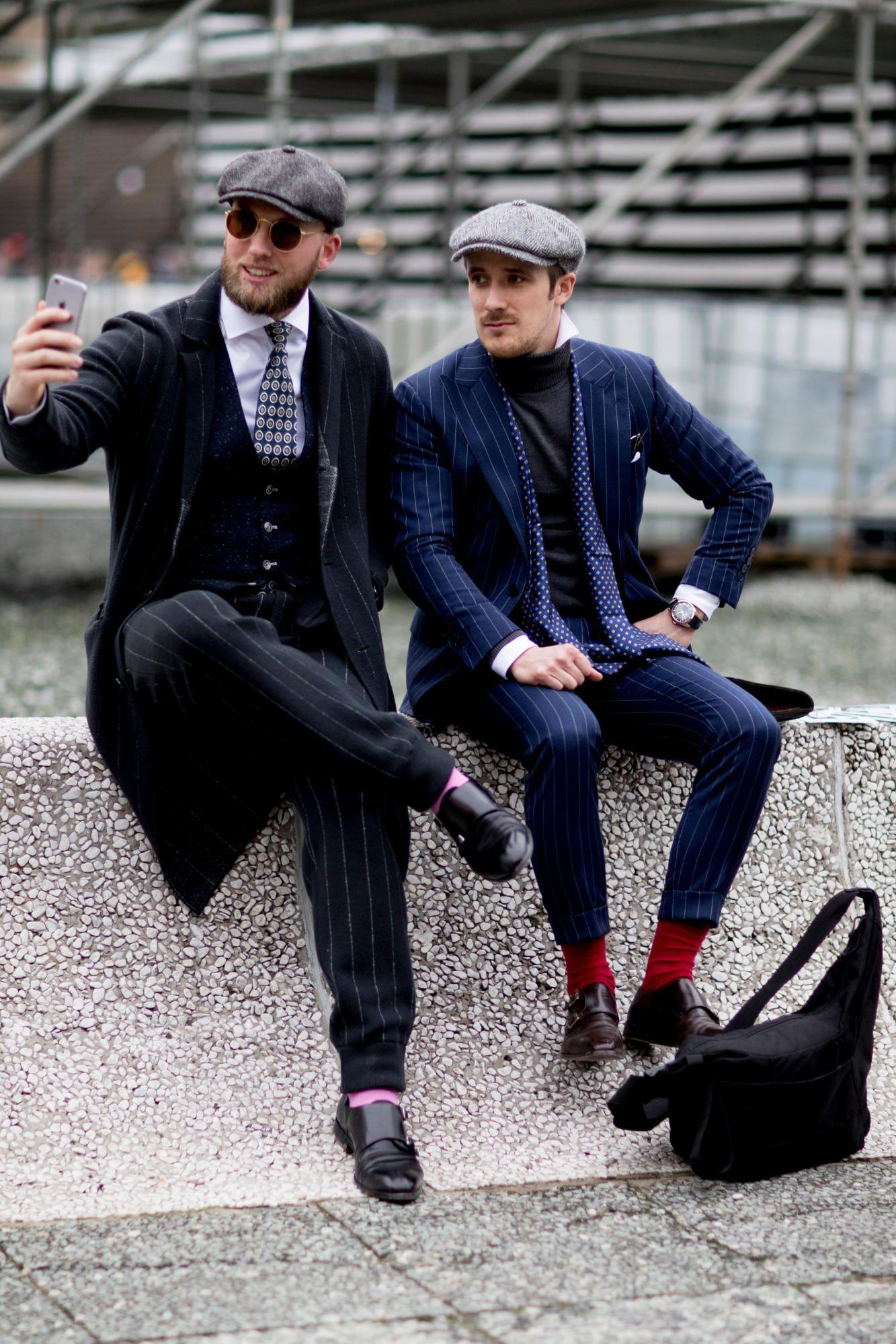 13d8f07109b The Street Style Crowd Wore Pops of Orange at Milan Men s Fashion Week