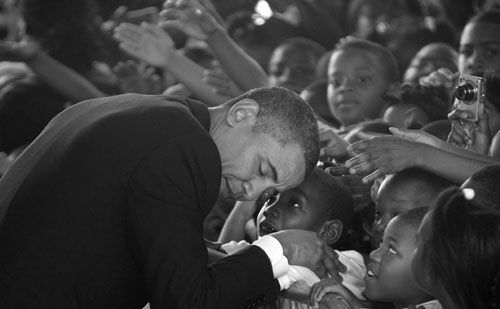 President Barack Obama visits the Dr. Martin Luther King Charter School in the Lower 9th Ward of New Orleans on Thursday, Oct. 15, 2009. (AP)