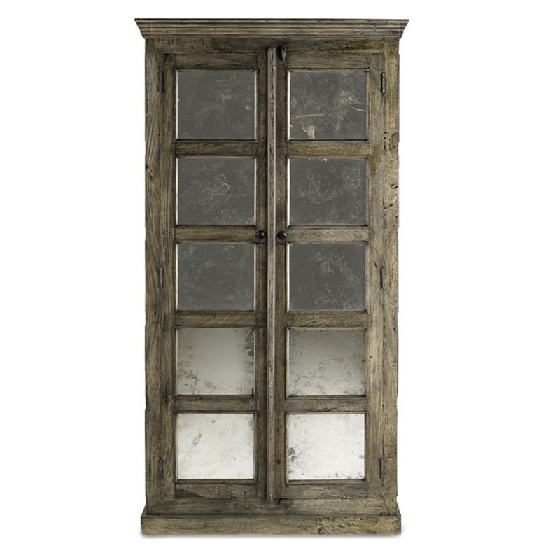 constructed from warm mango wood Antiqued French Tall Cabinet