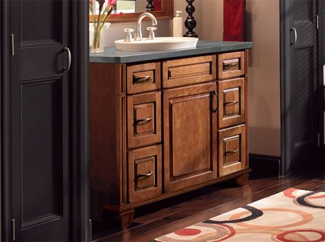 kraftmaid bathroom vanity bayshore accent collection - Bathroom Cabinets Kraftmaid