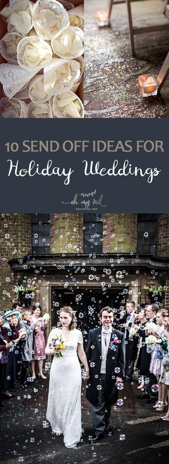 10 Send Off Ideas for Holiday Weddings Unique wedding