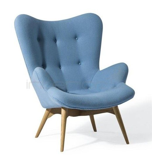 Replica Grant Featherston Chair And Ottoman Blue With Images