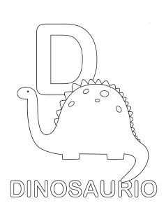 spanish alphabet coloring page d - Spanish Alphabet Coloring Pages