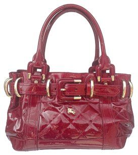 82248d462e33 Burberry Patent Leather Satchel in Red