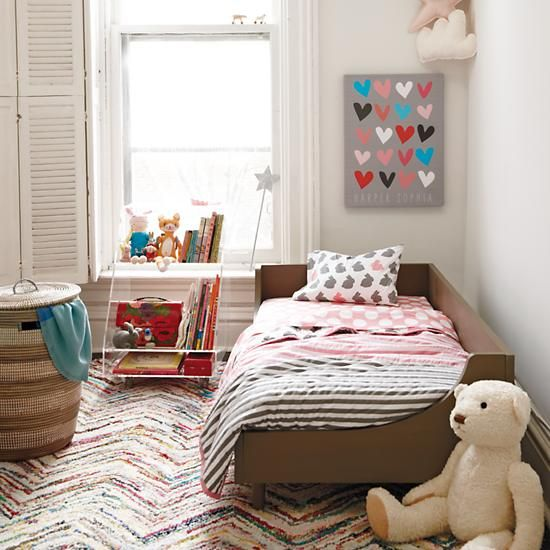 Hampshire Modern Arched Toddler Bed (Clay)   The Land of Nod - I feel