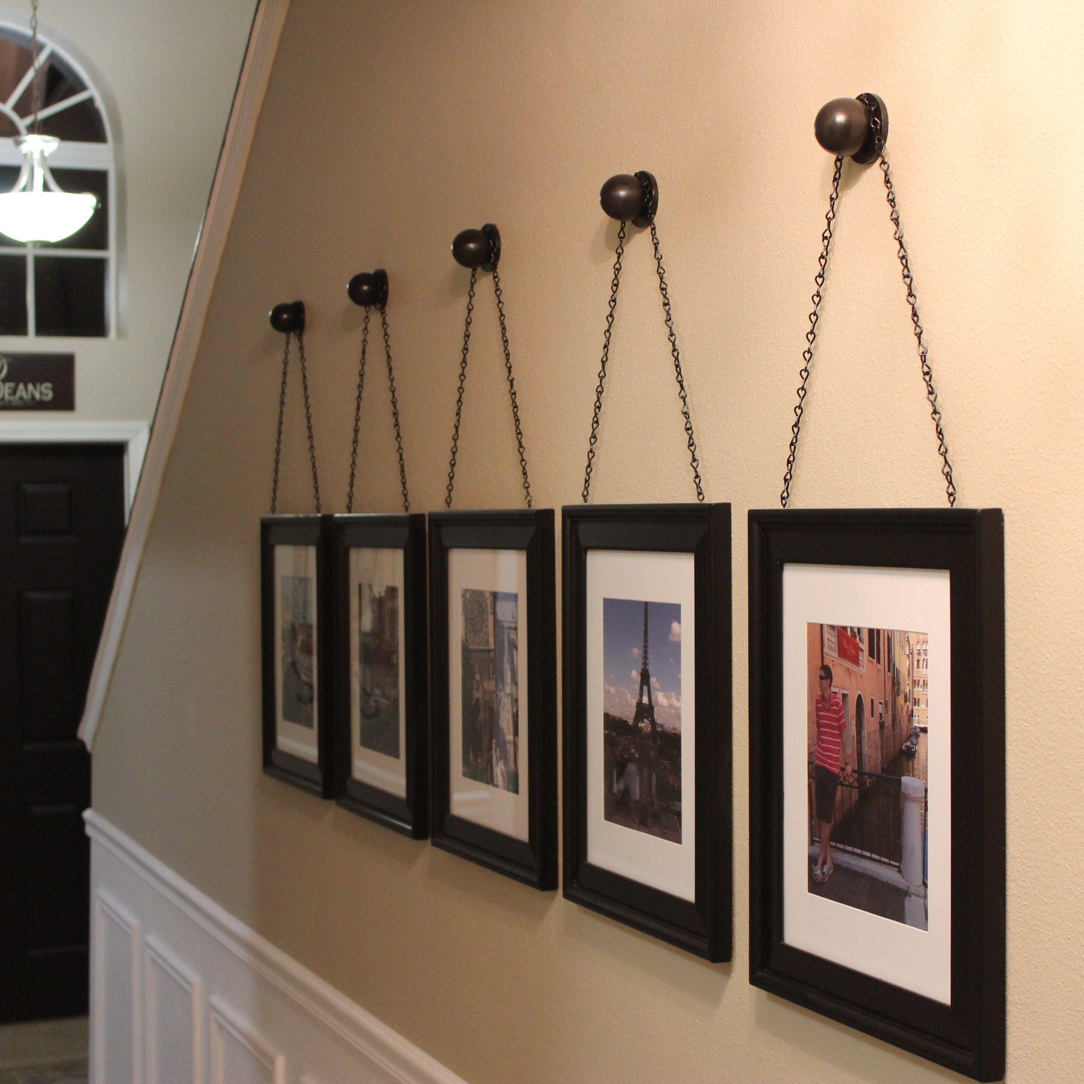 Appendere Quadri Su Scale diy chained frames (con immagini) | appendere quadri, catene